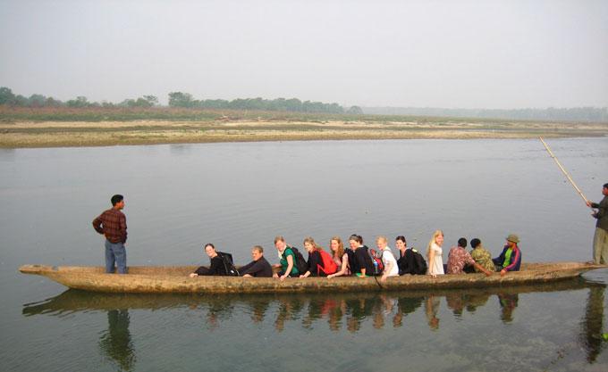Canoe ride in Chitwan