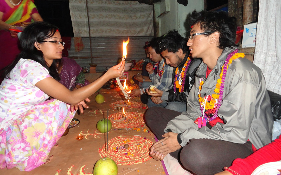 Bhai tika Tihar Festival in Nepal