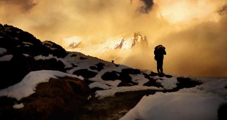 Mountaineer on Sunset