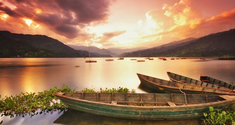 Fewa Lake of Pokhara