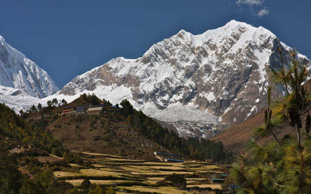 A village within the touching distance of the mountains
