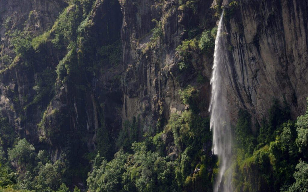 Waterfall out of nowhere