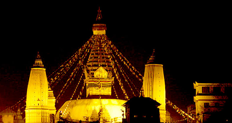 Swayambhunath-at-night