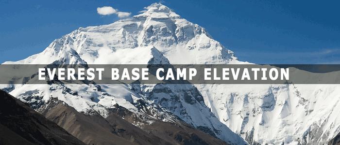 everest base camp elevation. Black Bedroom Furniture Sets. Home Design Ideas