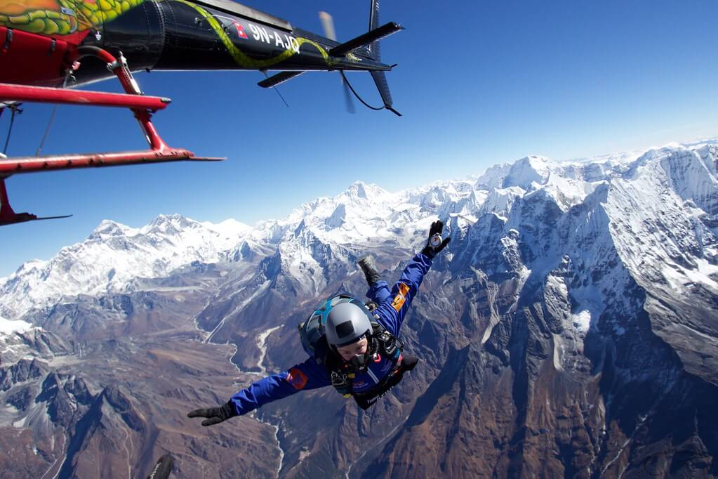 Skydiving Above Mt. Everest