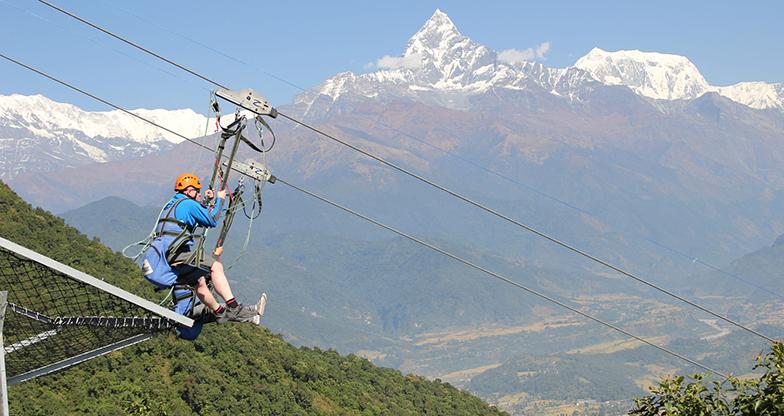 Zip flying in Nepal (2)