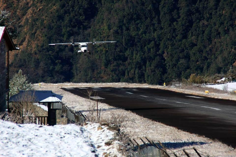 Take a scenic flight to Lukla